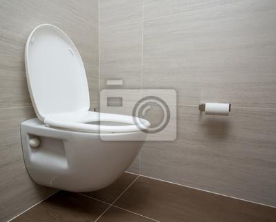 Fototapete: Moderne toilette oder wc in der kreuzfahrtschiffkabine