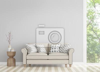 Fototapete Moderne Vintage Wohnzimmer 3d Rendering Bild.Decorate Zimmer Mit  Vintage Stil Sofa Es