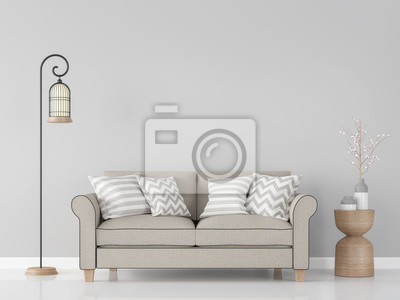 Moderne vintage wohnzimmer interieur 3d rendering image.there