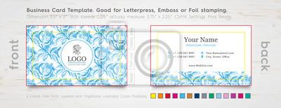 Moderne Visitenkarte Entwurfs Schablone Gravierte Rose