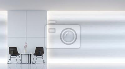 Moderne weiße wohnzimmer innenraum 3d rendering bild. eine leere ...