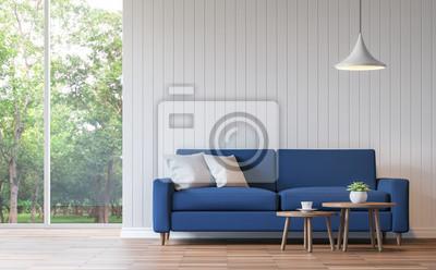 Attractive Fototapete Moderne Weiße Wohnzimmer Vintage Stil 3D Rendering Image.There  Sind Holzboden Verzieren