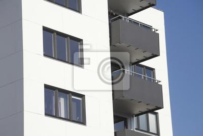 Fototapete Moderne Wohnhäuser, Balkone