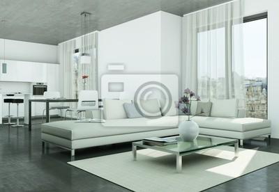 Moderne wohnung interieur design- fototapete • fototapeten ...