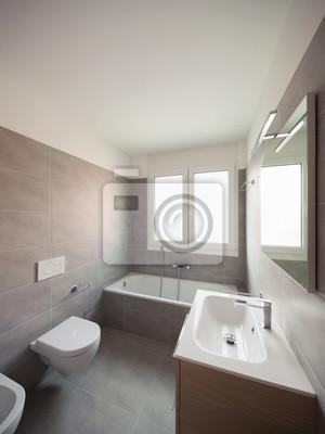 Moderne wohnung, toilette fototapete • fototapeten privies ...