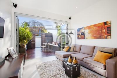 Moderne wohnzimmer fototapete • fototapeten appartment, Innenräume ...