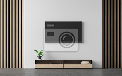Moderne wohnzimmer innenraum 3d rendering image.there sind ...