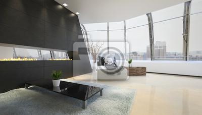 Fototapete: Moderne wohnzimmer innenraum | design loft