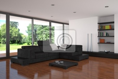 Fototapete Moderne Wohnzimmer Mit Parkettboden