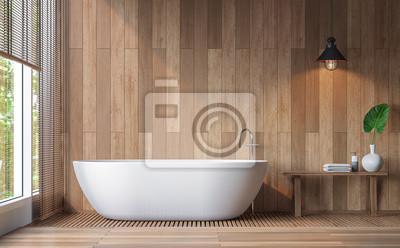 Fototapete Moderne Zeitgenossische Badezimmer 3d Rendering Image Decorate
