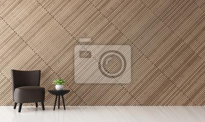 Fototapete Moderne Zeitgenössische Wohnzimmer Innenraum 3d Rendering  Image.There Sind Dekorieren Wand Mit Holz Latte
