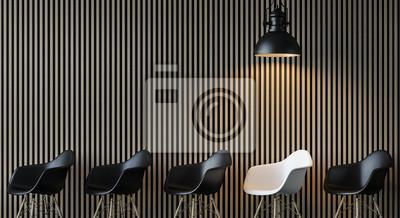 Fototapete Moderne Zeitgenössische Wohnzimmer Innenraum 3d Rendering  Image.There Sind Dekorieren Wand Mit Vertikalen Holz