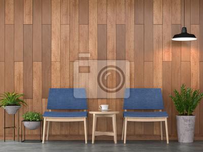 Fototapete Moderne Zeitgenössische Wohnzimmer Innenraum 3d Rendering  Image.There Sind Polierte Betonboden Verzieren Wand Mit