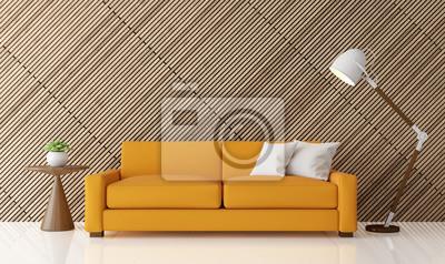 Fototapete Moderne Zeitgenössische Wohnzimmer Innenraum 3d Rendering  Image.There Sind Weiße Boden Verzieren Wand Mit