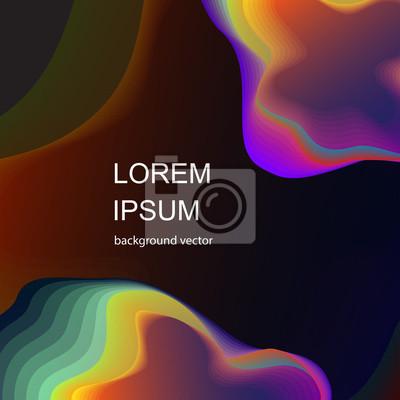 Fototapete Moderne Zusammenfassung. Flüssige organische bunte Formen. Kühle Steigung formt Zusammensetzung