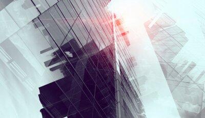 Fototapete Moderner Geschäftshintergrund. Gemischte Medien