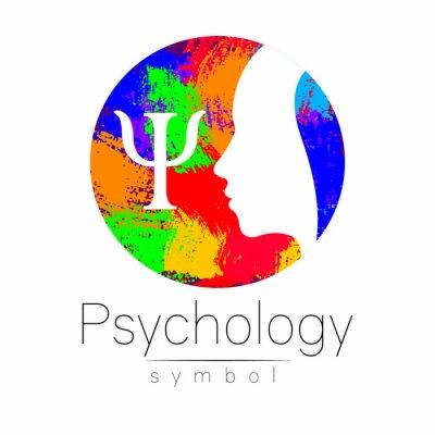 Moderner kopf logo zeichen der psychologie. profil mensch. buchstabe ...