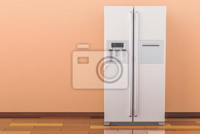 Side By Side Kühlschrank Farbig : Moderner kühlschrank mit side by side türsystem im raum d