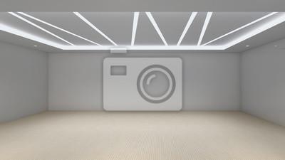 Moderner Leerer Raum 3d übertragen Innenarchitektur Verspotten