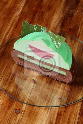 Moderner Multi Layered Mousse Kuchen Innen Mit Schokolade Und