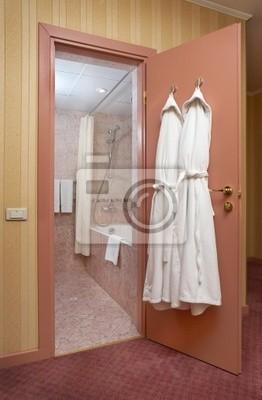 Fototapete Modernes Badezimmer Blick Durch Offene Tür