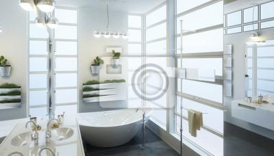 Modernes badezimmer design fototapete • fototapeten formschön ...