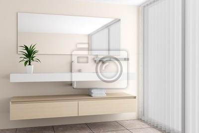 Fototapete Modernes Badezimmer Mit Beige Wand
