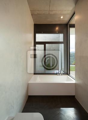 Modernes badezimmer mit fenster fototapete • fototapeten ...