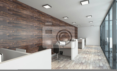 Modernes büro design  Modernes büro kabinett. konferenzraum. 3d-rendering. fototapete ...