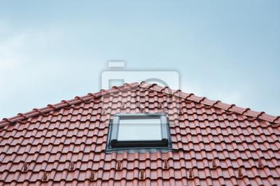 Fototapete Modernes Dach Skylight Fenster Auf Rotem Haus Ton Keramikfliesen