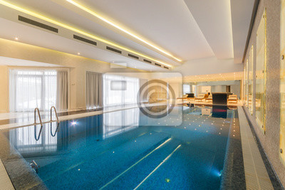 Fototapete: Modernes hallenbad im spa im hotel