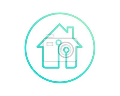 Fototapete Modernes Haus Immobilienlogo   Smart House Konzept