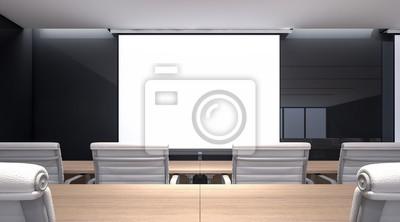 Fototapete: Modernes klassenzimmer in einer privaten universität,  3d-rendering