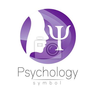 Modernes kopf logo zeichen der psychologie. profil mensch. buchstabe ...