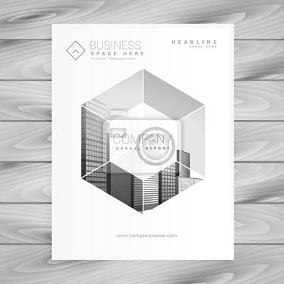 Modernes Magazin Deckblatt Design In Größe A4 Fototapete