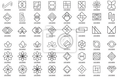 Fototapete Modernes minimales Vektor-Logo für Fahne
