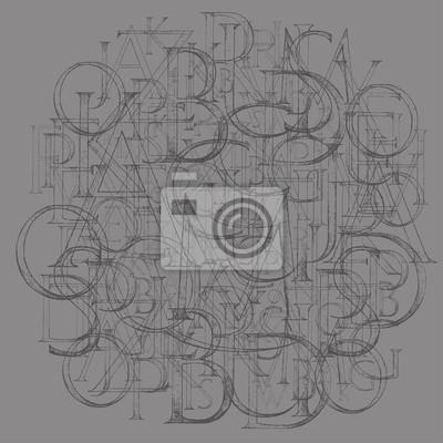 Fototapete Modernes Römisches Klassisches Alphabet