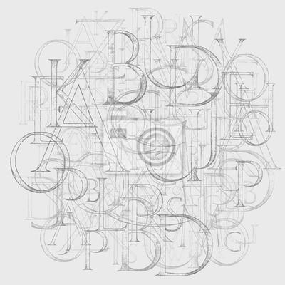 Modernes Römisches Klassisches Alphabet