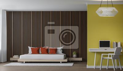 Modernes schlafzimmer interieur 3d rendering bild es gibt dekoration ...