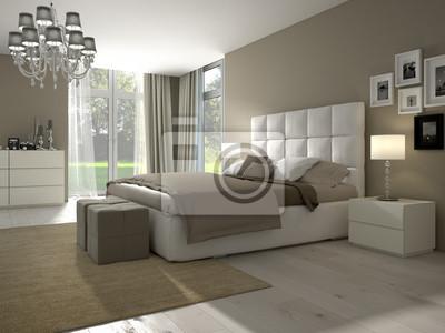 Fototapete Modernes Schlafzimmer Mit Dekoration