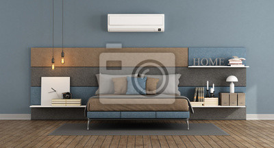 Modernes schlafzimmer mit klimaanlage fototapete • fototapeten 3d ...