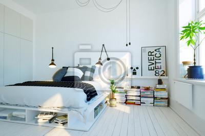 Modernes, skandinavisches schlafzimmer - modernes schwedisches ...