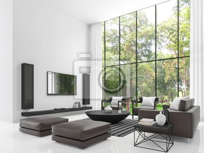 Modernes weißes wohnzimmer 3d rendering image.the wohnzimmer ...