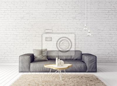Modernes Wohnzimmer Mit Sofa Und Lampe Skandinavische