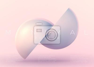 Modisches minimales vektorplakat. pastell lebhafter hintergrund