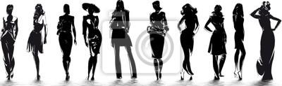 Fototapete Modus - Silhouetten de femme