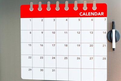 Kühlschrank Kalender : Monatlicher kalender im kühlschrank fototapete u fototapeten