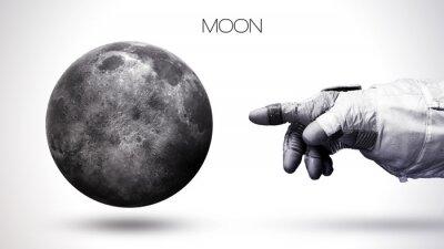 Fototapete Mond - Hohe Auflösung beste Qualität Sonnensystem Planeten. Alle Planeten verfügbar. Diese Bildelemente von der NASA