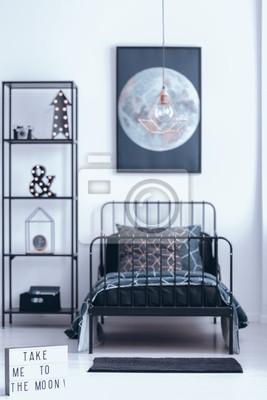 Fototapete: Mond poster im schlafzimmer innenraum