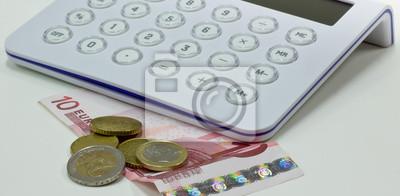 Fototapete Moneta con calcolatrice